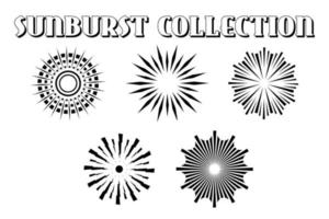 vintage style sunburst set vector