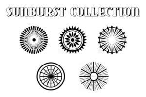 Sunburst Vintage Background Set vector