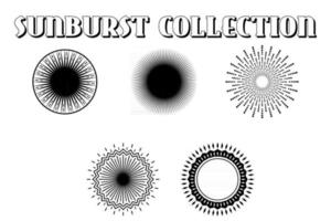 Sunburst on Starburst Element Set vector