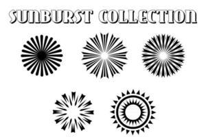 Retro Sun burst shapes. Vintage logo, labels, badges. vector
