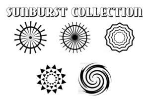 Simple Set Of Sunburst vector