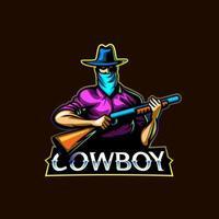 Cowboy mascot logo icon vector design concept