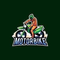 Biker mascot logo vector design concept