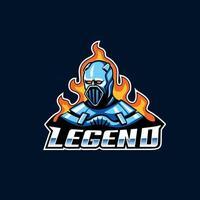 Legend mascot logo icon design concept vector