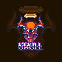 Skull mascot logo icon design vector