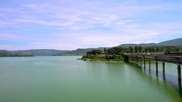 corbara lake in umbria bathing place with beaches video