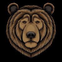 Bear head vector illustration
