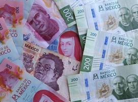 Economy and finance with mexican money photo