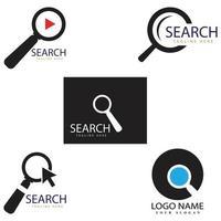 Search logo template vector icon illustration design