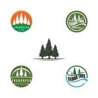 pine evergreen fir hemlock spruce conifer cedar Christmas tree Logo design vector