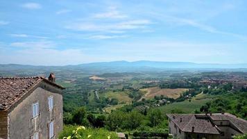 paysage ombrien vu du belvédère de todi video