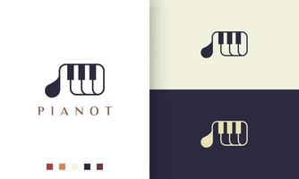 simple and modern piano composer logo or icon vector