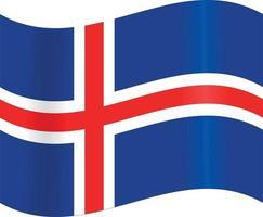 Iceland national flag vector