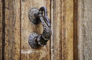 Old rusty door knocker photo