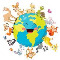 Various Cartoon Animals Posing vector
