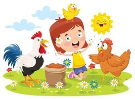 Various Cartoon Coop Animals vector