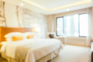 Abstract blur and defocused bedroom interior photo