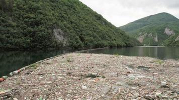 ecologia poluída barragem clima plástico global video