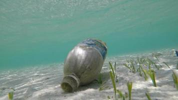 Plastic pollutants and plastic debris video footage 4k