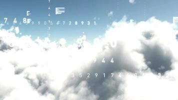 molnblå teknik internetanimering datorinformation nätverksdata 3d framför video