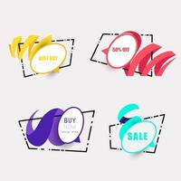 stylish sales banner collection vector