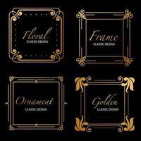 golden luxury frames vector