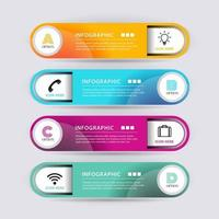 abstract shape infographic banner vector