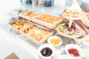 Desenfoque abstracto y buffet de catering desenfocado foto