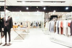 Desenfoque abstracto y centro comercial desenfocado de grandes almacenes foto