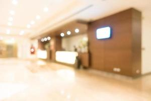 Abstract blur hotel and lobby interior photo