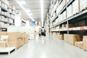 Abstract blur and defocused warehouse store interior photo