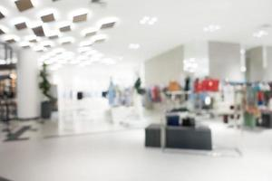 Abstract blur and defocused shopping mall photo