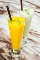iced Mango smoothie glass photo