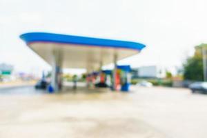 Blur gas station photo