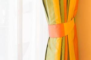 decoración de la ventana de la cortina foto