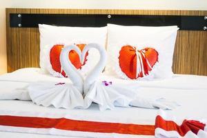interior de dormitorio romántico foto