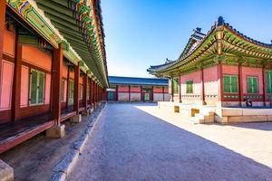 palacio gyeongbokgung en corea del sur foto