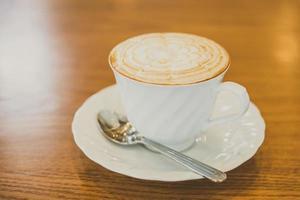 taza de café con leche foto
