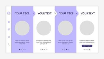 Reliable health information onboarding vector template. Responsive mobile website with icons. Web page walkthrough 4 step screens. Aid in patient diagnosis night mode concept with copy space