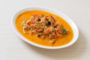 Panang curry with pork photo