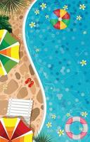 Swiming Pool Background Concept vector