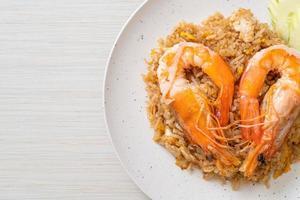 Giant Prawns Fried Rice with Shrimp Paste photo
