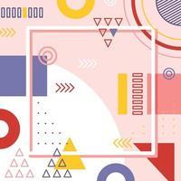 Pinkish Geometric Background vector