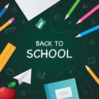 School Supplies Background vector