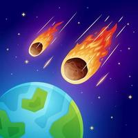 Meteor Falling to the Earth vector
