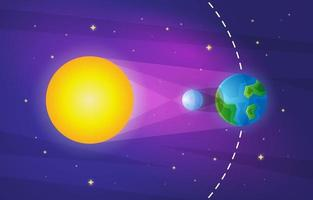 Solar Eclipse Infographic Background vector