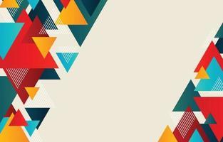 fondo geométrico triangular abstracto vector
