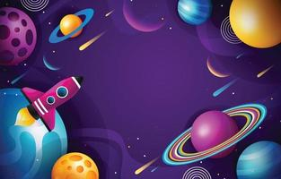 Colorful Space Background vector