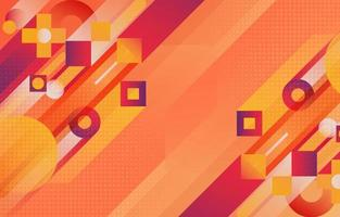 Creative Abstract Overlapping Geometric Orange Red vector