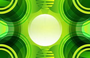 Creative Geometrical Circle Green Gradient vector
